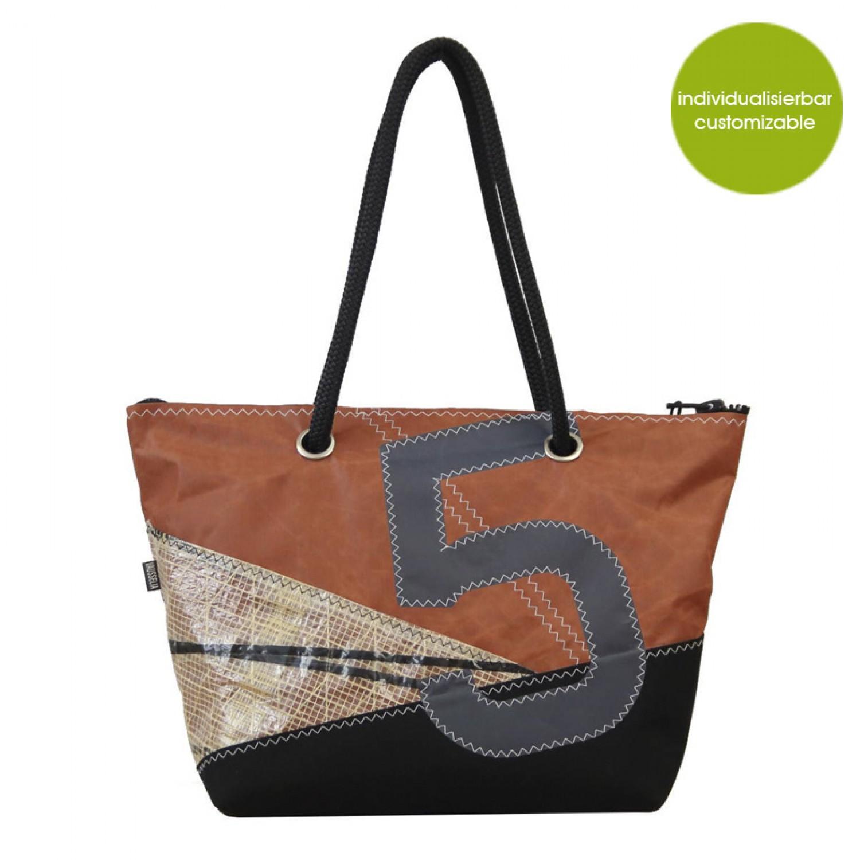 Shopper & Handtasche aus Canvas Sail Boat 5 | Marron Rouge