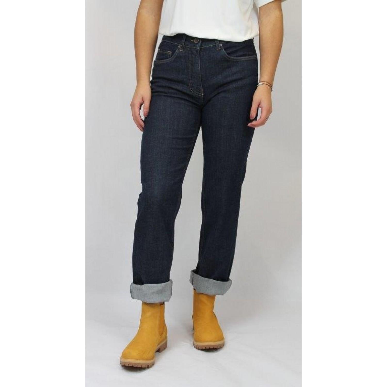 bloomers Straight-fit Bio Jeans Öko-faire Jeans dunkelblau
