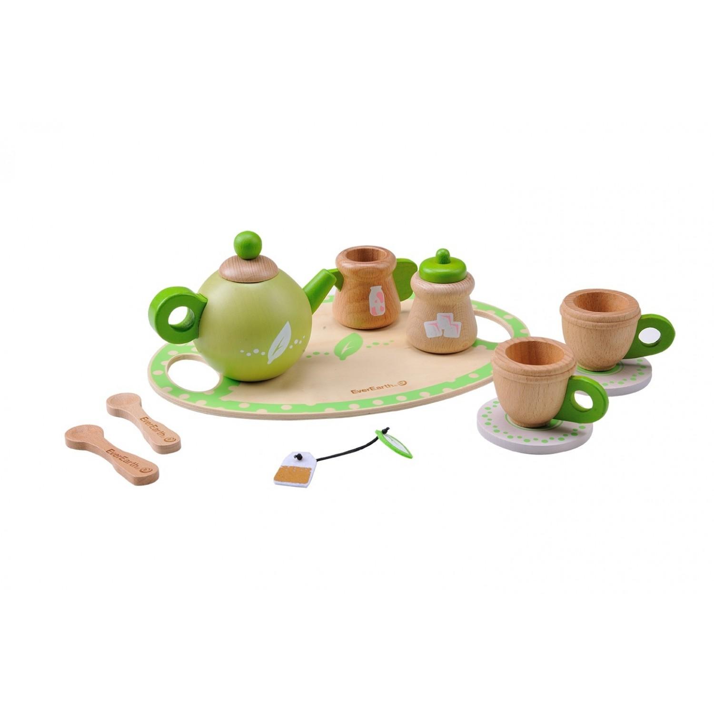 EverEarth® Teeservice Öko Holzspielzeug aus FSC Holz