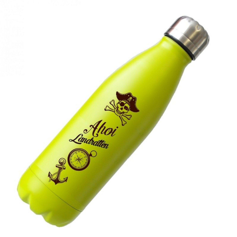 Ahoi Landratten Edelstahl-Thermosflasche   Dora's