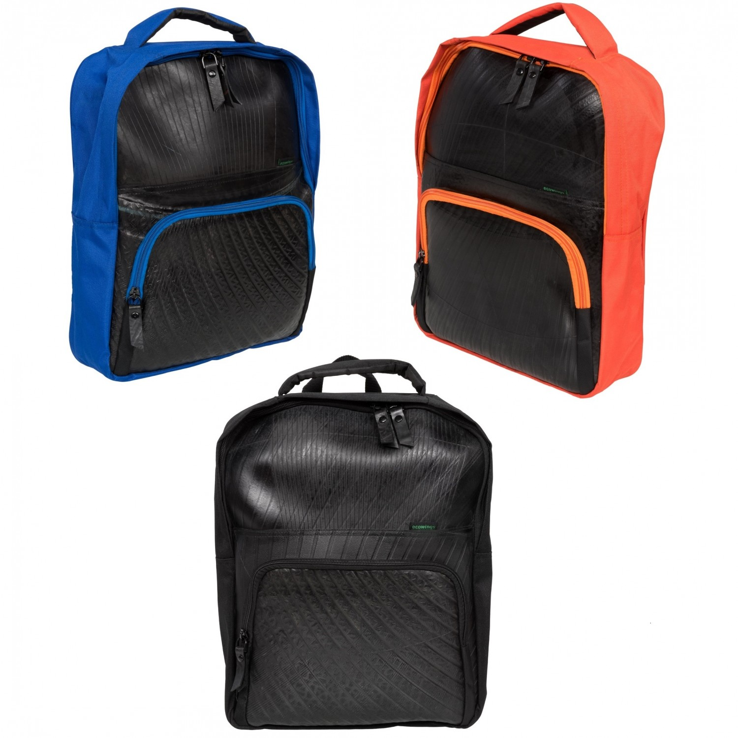 Ecowings Rozer Laptop Upcycling Rucksack - Recycling-Gummi
