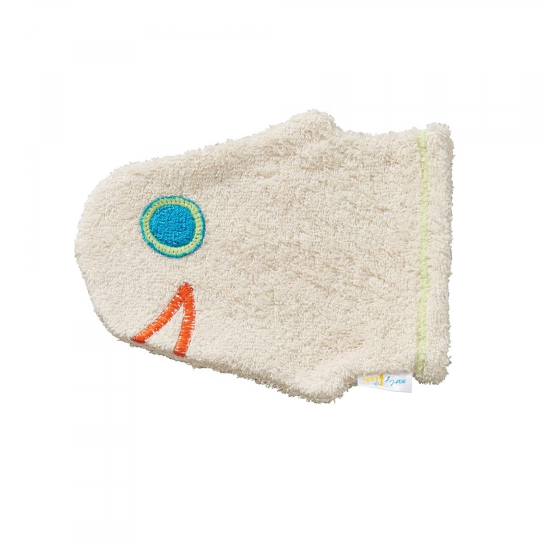 early fish Bio Waschhandschuh Fischkopf aus Bio-Baumwolle