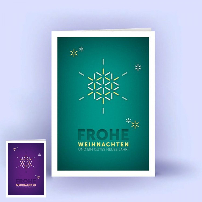 Öko Weihnachtskarten Schneeflocke A6 hoch 5er Set | eco cards