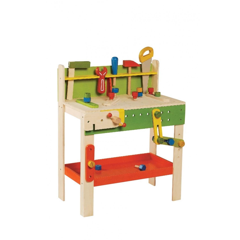 everearth große werkbank mit werkzeug für kinder - fsc holz | greenpicks