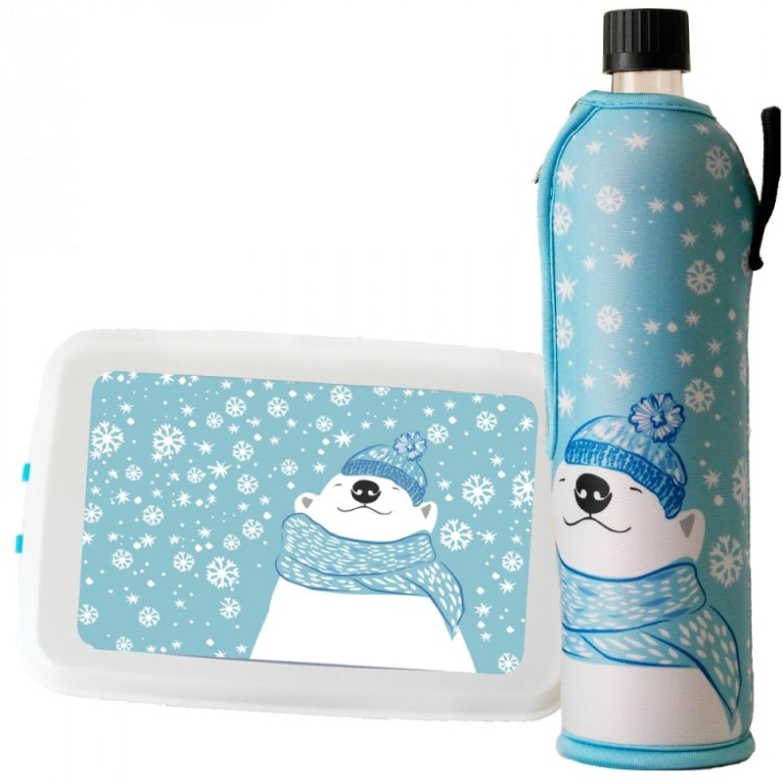 Winteredition »Eisbär« Trinkflasche & Lunchbox | Dora's & Biodora