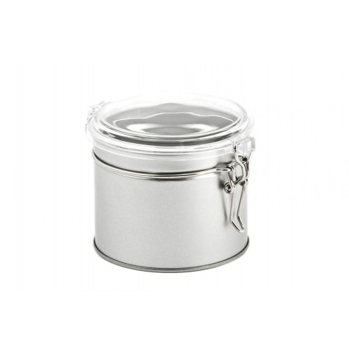 Runde Vorratsdose transparenter Deckel, Bügelverschluss 540 ml » Tindobo