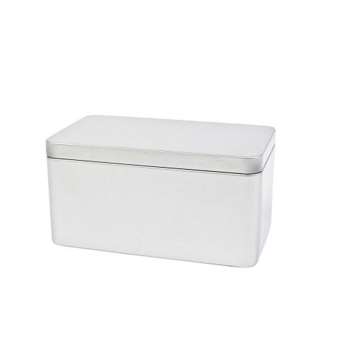 Rechteckige Weißblechdose mit Klemmdeckel 655 ml » Tindobo