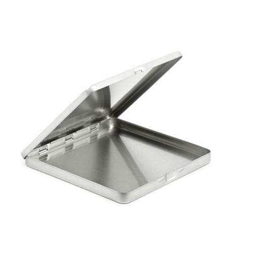 Quadratische Geschenkverpackung - stabile Sammelbox aus Weißblech » Tindobo