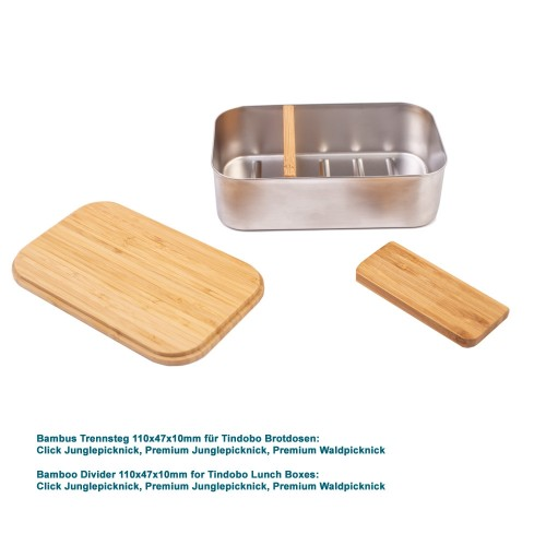 Bambus Trennsteg 110x47x10mm für Lunchboxen » Tindobo