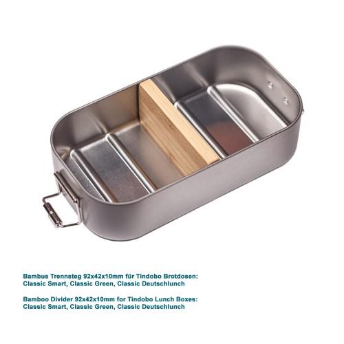Bambus Trennsteg 92x42x10mm für Lunchboxen » Tindobo
