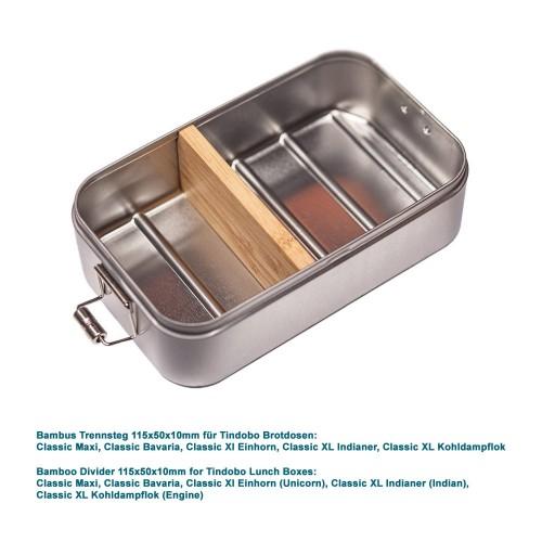 Bambus Trennsteg 115x50x10mm für Lunchboxen - Tindobo