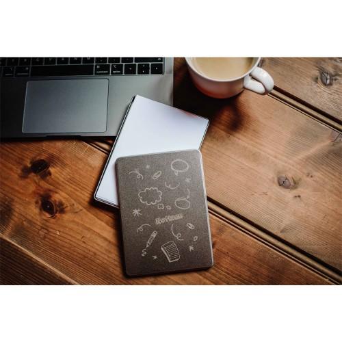 Plastikfreie Zettelbox A6 aus Weißblech » Tindobo