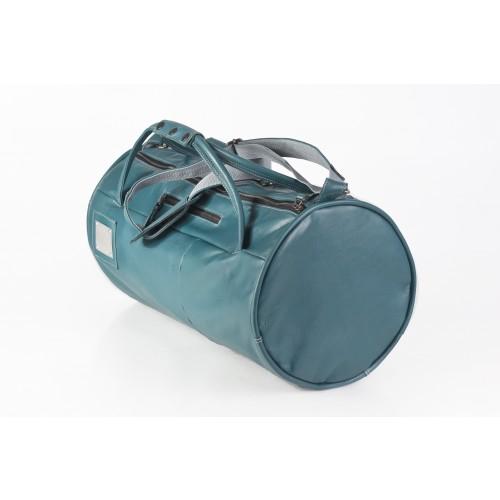 Upcycling Ledertasche Reisetasche Menthol/Grün