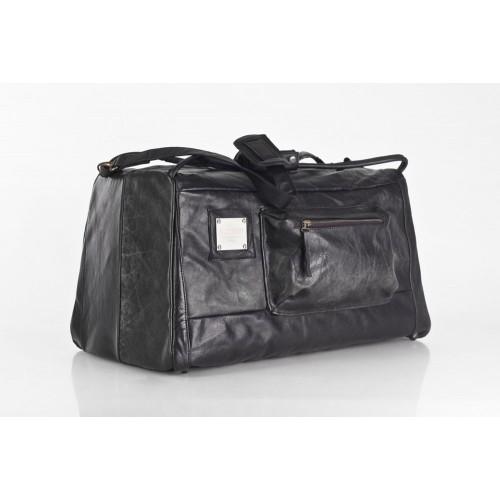 Schwarze große Upcycling Reisetasche Sporttasche