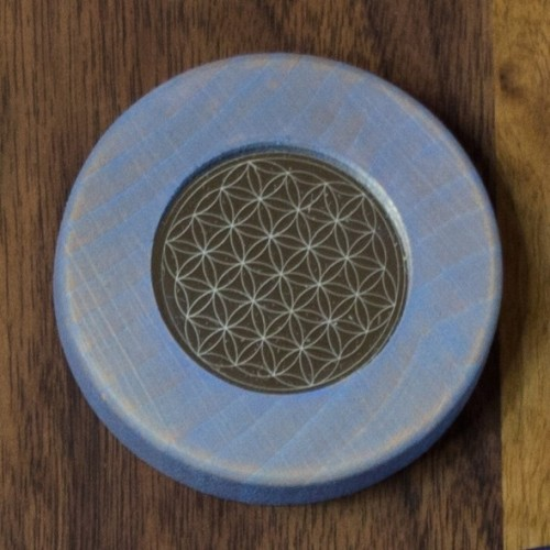 Magnete Blume des Lebens, hellblau   Living Designs