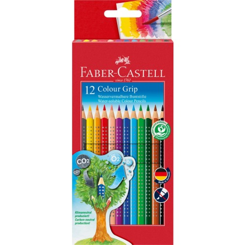 Faber-Castell Buntstift Colour Grip 12er Kartonetui