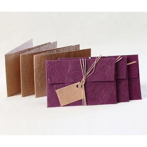 3er Öko Geschenkkarten Set in Pflaume | Sundara Paper Art