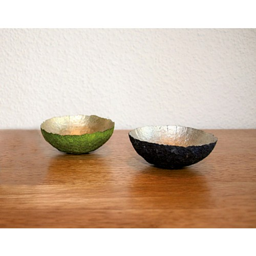 Deko- und Schmuckschale Grün/Gold | Sundara Paper Art