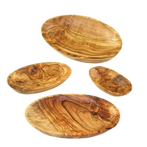 Olivenholz Schalen, oval, verschiedene Längen | Olivenholz erleben