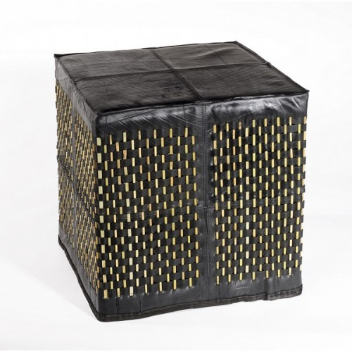 Quadratisches Sitzkissen | Upcycling Möbel aus Bambus