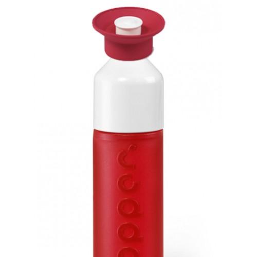 Rote Dopper Wasserflasche mit Sport Cap Simply Red