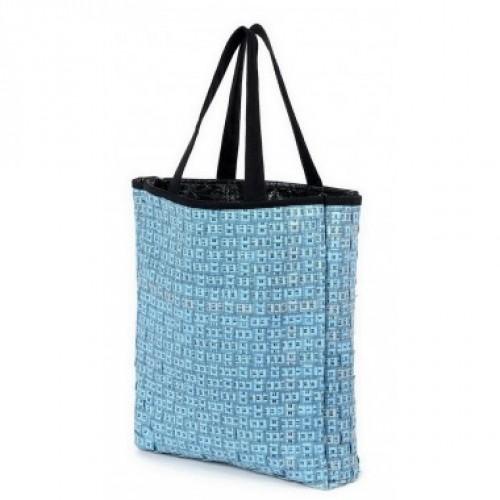 Blaue Upcycling Tasche | Einkaufstasche