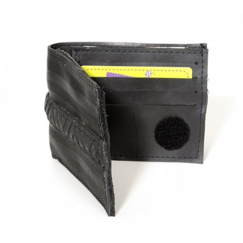 Upcycling Sicherheitsgurt Kreditkartenetui schwarz