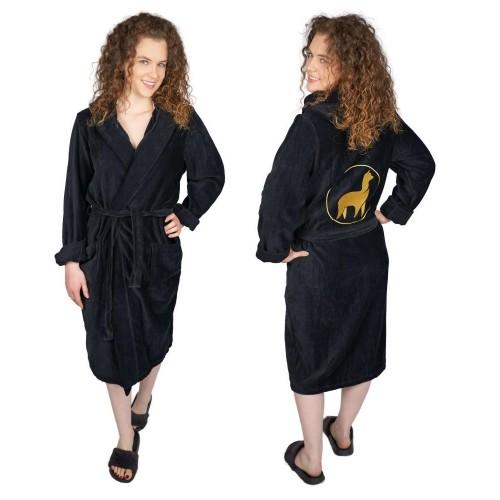 Bademantel für Damen OEKO-TEX® Baumwolle mit Alpaka Stickerei » AlpacaOne
