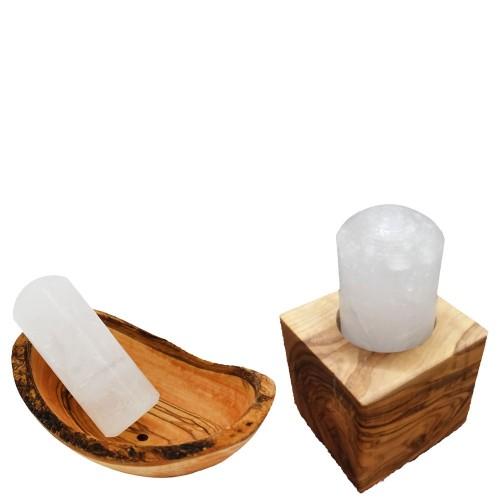 Kristall-Deo wahlweise mit Aufbewahrung aus Olivenholz » D.O.M.