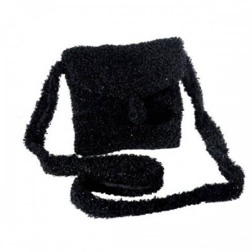 Schwarze Upcycling Handtasche aus Recycling-Garn