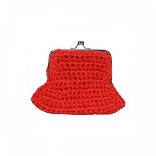 Rote Geldbörse aus Baumwollgarn