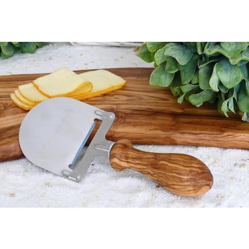 Olivenholz Käsehobel, Griff gedrechselt | Olivenholz erleben