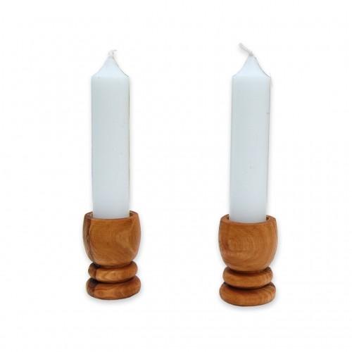 Olivenholz Kerzenständer PICCOLO 2er Set | D.O.M.