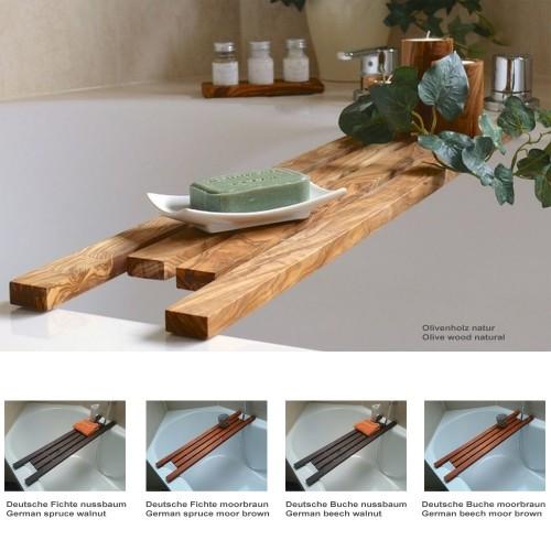 Badewannenablage DESIGN verschiedene Holzarten | D.O.M.