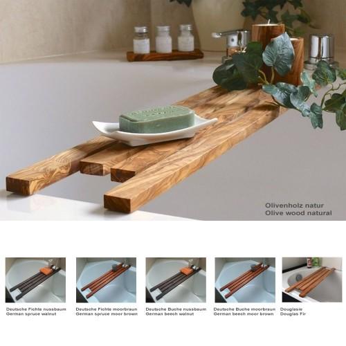 Badewannenablage DESIGN verschiedene Holzarten » D.O.M.