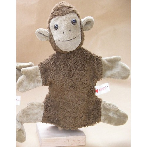 Handpuppe Affe vegan aus Bio-Baumwolle | Kallisto