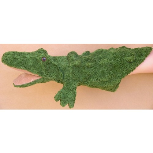 Handpuppe Krokodil Manni mit Bio-Baumwolle | Kallisto