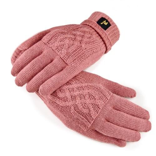 Fingerhandschuhe Sara aus 100% Alpaka, One Size, Damen, Koralle