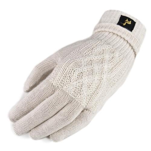 Fingerhandschuhe Sara aus 100% Alpaka, One Size, Damen, Natur