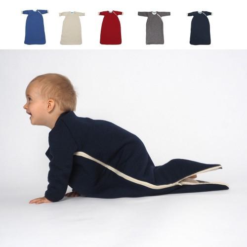 Gefütterter Winter Schlafsack mit Arm - Bio-Wolle | Reiff