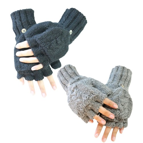 Alpaka Handschuhe Halbfinger Sydney, Unisex | AlpacaOne