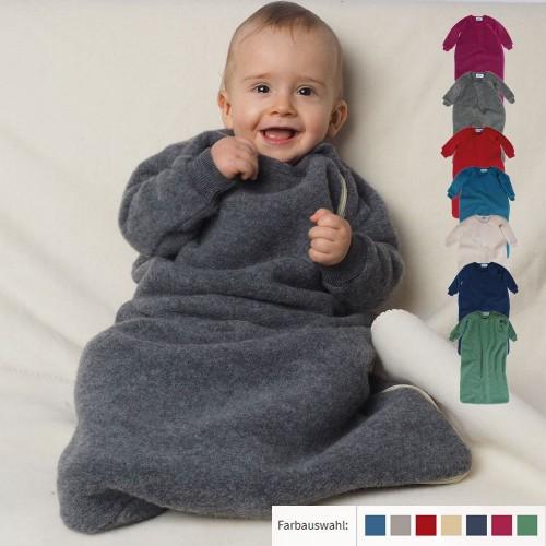 Baby Fleeceschlafsack mit Arm aus Bio-Wolle | Reiff
