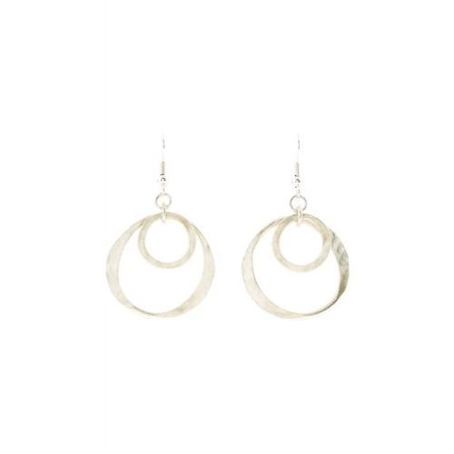 Double Circle Earrings de