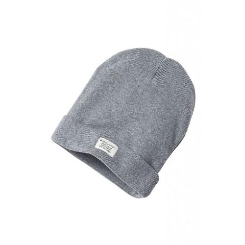 Bio Strickmütze Knit Beanie Classic grey mélange | recolution