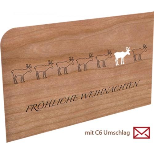 Fröhliche Weihnachten | Holzpostkarte
