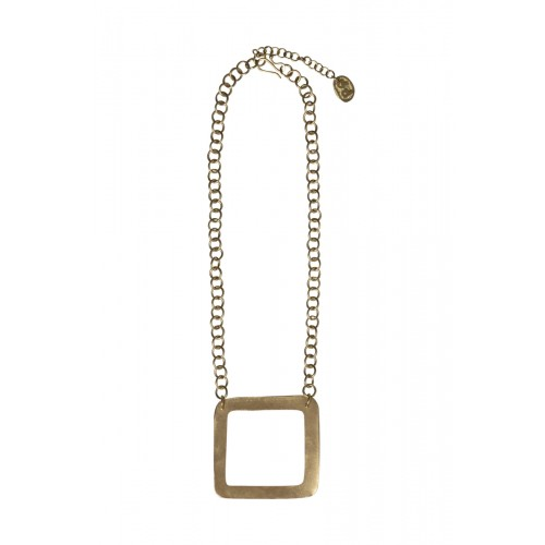 Square Necklace Brass – Messing Halskette | People Tree