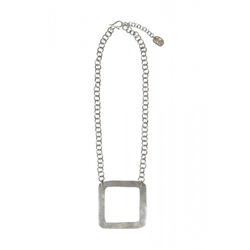 Square Necklace Silver – Silber Halskette | People Tree