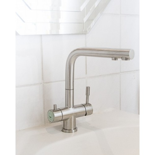 3-Wege Edelstahl-Küchenarmatur & WiV Wasserfilter | BBB Wasserprofis