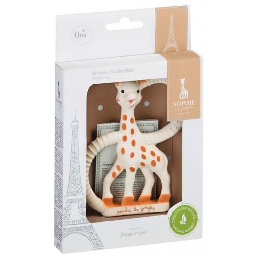Beissring Weich Sophie la Girafe - weißer Geschenkkarton