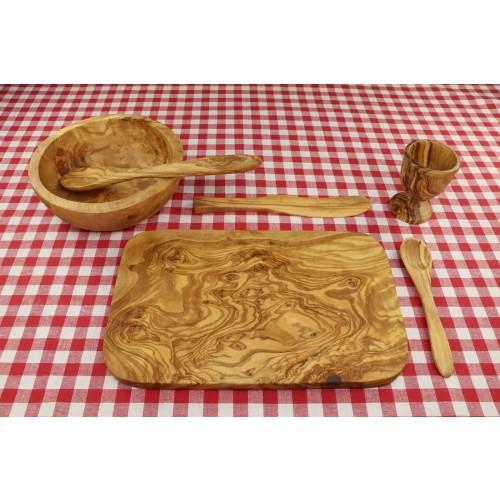 6-teiliges Frühstücksgeschirr »MALAGA« aus Olivenholz | D.O.M.